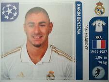 Panini 224 Karim Benzema Real Madrid UEFA CL 2011/12