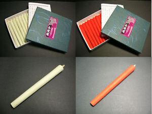 Japanese Traditional 12 Candles; Craftsman's Handmade 100% vesitable wax (10cm)