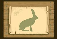 Hare Silhouette Stencil 350 micron Mylar not thin stuff #Hare02