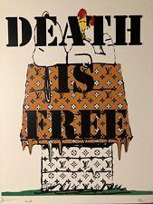 Death NYC Lithographie Signée Numérotée COA + CADRE SUR MESURE Inclus