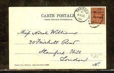 MOROCCO AGENCIES (P1206B) 1904 KE 10C ON PPC TANGIER TO LONDON