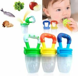 Baby Dummy Pacifier Fresh Food/Fruit Feeder  Pack of 3 (Small/Medium/Large)