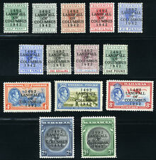 BAHAMAS 1942 SG 162-175a SC 116-129 VF OG MLH * COMPLETE SET 14 STAMP