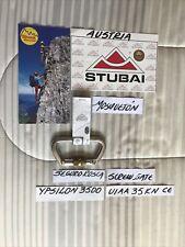 = Carabiner = Stubai-Austria = Ypsilon D, 35Kn =Anodized,Screw Gate= Uiaa Ce =