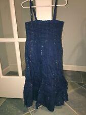 Old Navy Girls Blue Metallic Sun Dress Sleeveless Large EUC
