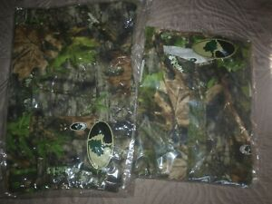 Mossy Oak Obsession Camo Long Sleeve-Button Up Shirt and Pants-New W/ Tags
