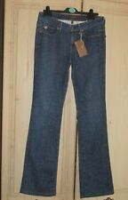New DEENER Ladies THE CHAMER Blue Denim Slim Boot Cut Jeans Size 27 Length 33 in