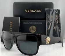Versace Sunglasses VE 4275 GB/187 Black Gray 58mm VE4275 GB187 Medusa Brand New