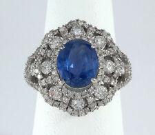 GIA BURMA NATURAL SAPPHIRE & DIAMOND PLATINUM Ring - R9508