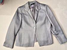 Women Gray  Jones New York Long Sleeve  Solid Lined  Jacket sz16