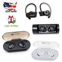 Wireless Earbuds Bluetooth V5.0 Headphones Sweatproof with Mic & Charging Box