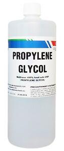1 Litre PROPYLENE GLYCOL USP (FOOD & PHARMACEUTICAL GRADE) 1L VAPE