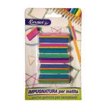 Set 5 impugnature per matita multicolor gomme da cancellare idea per la scuola