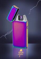 Lichtbogen Feuerzeug USB Arc Lighter aufladbar elektrisch Regenbogen