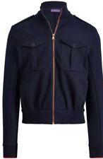 Ralph Lauren Purple Label Eisenhower Double Faced Cotton Blend Track Jacket Lrg