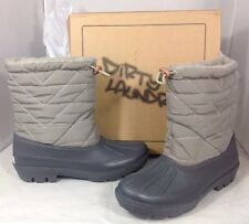 NEW DIRTY LAUNDRY Womens Boots Size 7 Grey Sherpa Fur Rubber Winter Rain Shoe