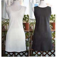 Lady Chiffon Full Slip Vest Under Dress Petticoat Underskirt Chemise Nightie New