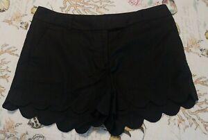 NWT Women j.Crew black Shorts sz.8 linen cotton Org.$49.50