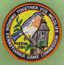 Pa Pennsylvania Game Fish Commission NEW 1984 WTFW Male Eastern Bluebird Patch