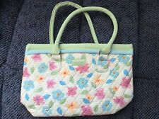Floral Blooms Fabric Quilted Purse Tote Handbag Longaberger 12x8x4 New Free Ship