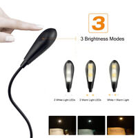 USB Rechargeable Clip On 4 LED Lamp Home Desk Table Lamp Reading 3 Level Light