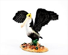 Hand Crafted Pelican Trinket Box By Ciel. Made with Swarovski Crystals & Enamel