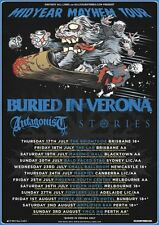 BURIED IN VERONA 2014 Midyear Mayhem Aus Tour Poster A2 ANTAGONIST A.D. STORIES