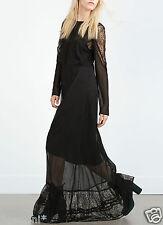 Zara s 36 38 Long lace dress maxi GOTHIK dentelle robe robe dentelle 7521/246
