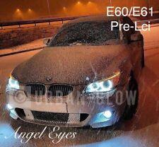 BMW 5 SERIES PRE-LCi E60 E61 XENON COOL WHITE LED ANGEL EYE HALO RING BULBS
