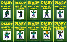 DIARY OF A MINECRAFT ZOMBIE Paperback Children's Series Collection Books 1-10!