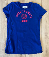 Abercrombie & Fitch Women's Crew T Shirt Blue Short Sleeve Large Cotton Blend