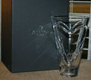 """Waterford Lead Crystal Clear Wishes ROMANCE 6 1/4"""" Vase #154222 MIB"""