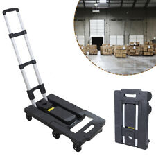 New Listingportable Hand Push Truck 400lbs Moving Cart Dolly Trolley Folding With 7 Wheels