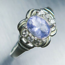 Very RARE 0.65ct Natural lavender blue HACKMANITE 925 sterling silver ring
