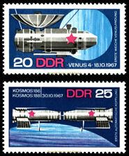 EBS East Germany DDR 1968 Soviet Space Program Michel 1341-1342 MNH