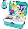 Sanlebi Pet Care Role Play Set Grooming Toys Feeding Dog Backpack Vet Kit Educat