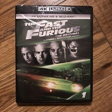 "The Fast and the Furious (4K Ultra HD + Blu-ray + Digital) ""New"" ""Sealed"""