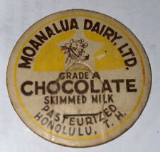 MOANALUA DAIRY LTD HONOLULU T H CHOCLATE MILK BOTTLE CAP HAWAII POG