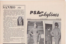 PSA Pacific Southwest Airlines Skylines Newspaper December 1962 Christmas 12/62