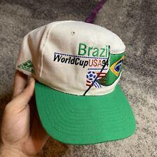 Vintage Apex Brazil World Cup USA 1994 Soccer SnapBack