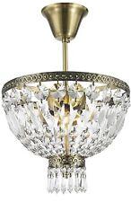"Metropolitan 3 Light Antique Bronze Crystal Semi Flush Mount Ceiling Light 12""D"