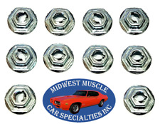 "Ford 3/16"" Stud Dash Trim Molding Clip Emblem Pal Thread Cutting Speed Nuts 10 R"