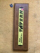 More details for 1950s tavern ale breweriana solid wood large cribbage board