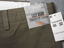 NWT DOCKERS 40 x 32 EASY KHAKI pants brown FLAT FRONT STRAIGHT FIT mens NEW
