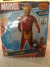 MARVEL AVENGERS IRON MAN MUSCLE JUMPSUIT MASK TODDLER CHILD COSTUME BOY SIZE 2-4