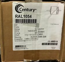 CENTURY RAL1054 Room Air Cond Mtr,PSC,OAO,1625 RPM, 1/2 HP, 115V
