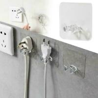 5Pcs Power Plug Socket Hook Rack Holder Hanger Office Home Wall Decor New