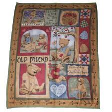Premier Christmas Soft Fun Fleece Blanket Throw 1.6 x 1.3 Metres - Teddy Bears