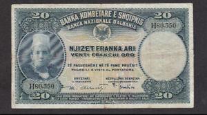 20 FRANKA ARI FINE BANKNOTE FROM ALBANIA 1926 PICK-3