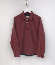 Fat Face Toggle Neck Sweater Pullover Jumper Autumn Red Mens Medium